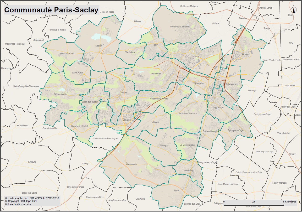plan paris saclay